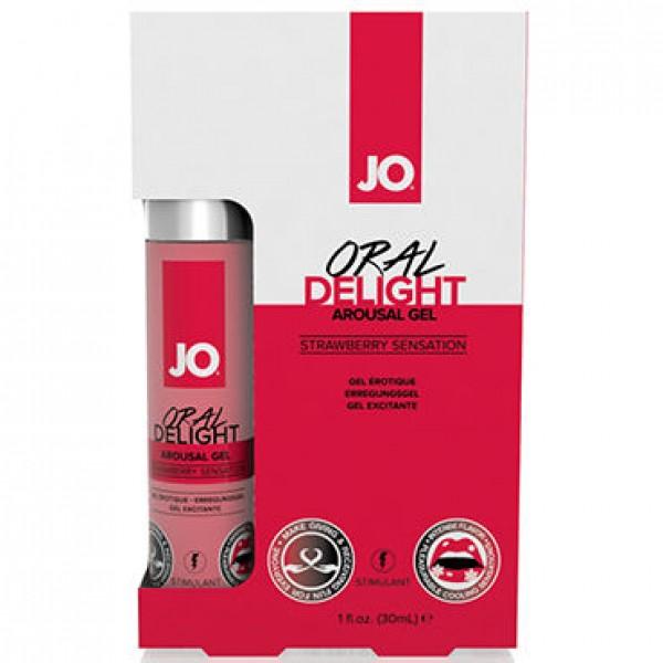 JO Стимулирующий гель для оральных ласк Клубника Oral Delight - Strawberry 30мл