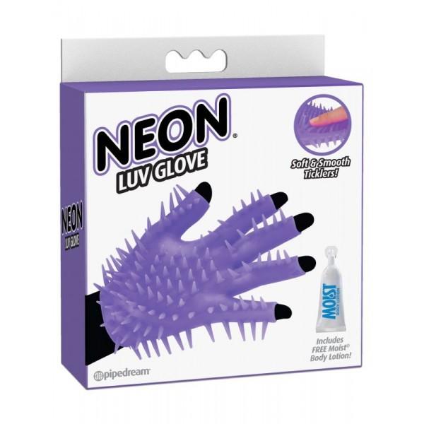 1446-12 PD Перчатка для чувственного массажа Neon Luv Glove