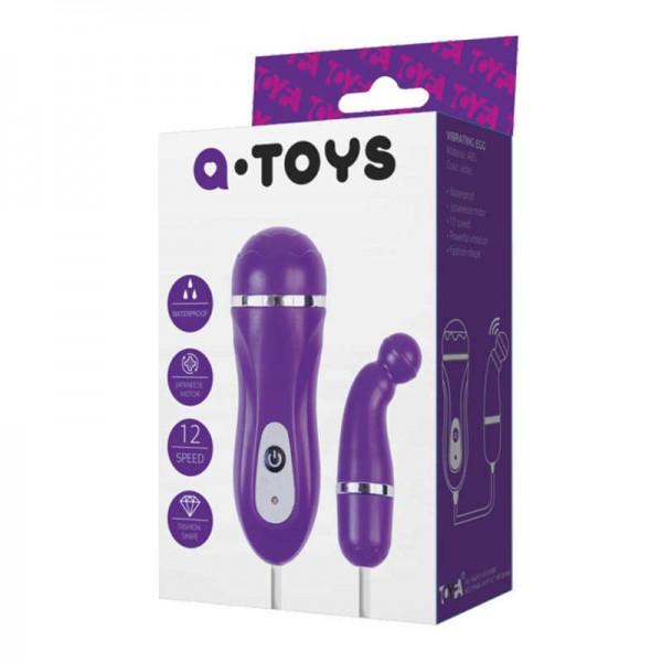761010 Виброяйцо фиолет.A-TOYS